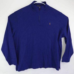Polo Ralph Lauren Mens Pullover Sweater Blue Cotto